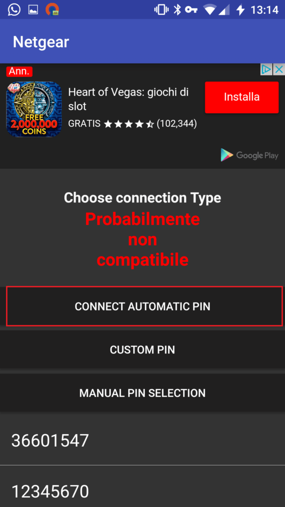 Connect Automatic Pin